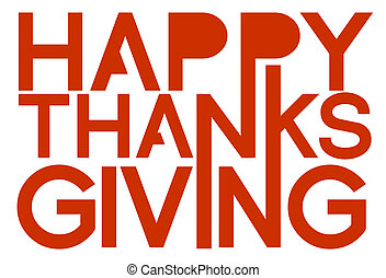 Happy Thanksgiving orange sign illustration