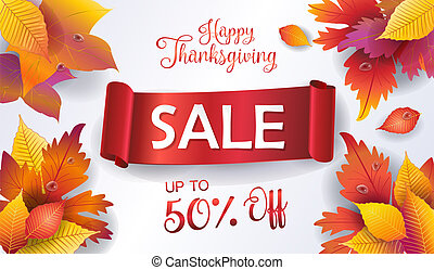 Happy Thanksgiving sale banner gift card