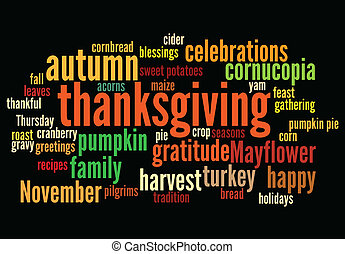 happy thanksgiving - thanksgiving background, with random...