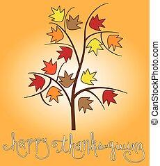Happy Thanksgiving Tree