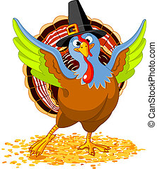 Happy Thanksgiving Turkey - Illustration of Happy...