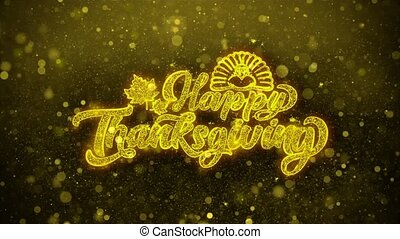 Happy Thanksgiving Wishes Greetings card, Invitation,...