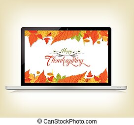 Happy Thanksgiving with laptop