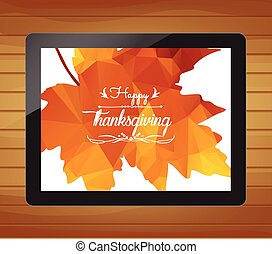 Happy Thanksgiving with tablet