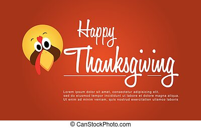 Happy Thanksgiving with turkey background