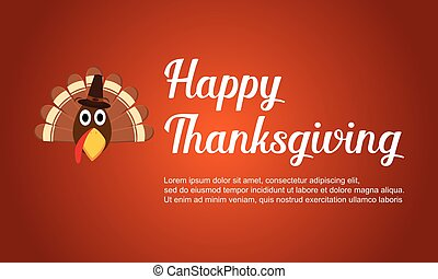 Happy Thanksgiving with turkey card