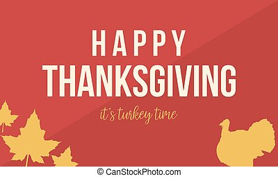 Happy Thanksgiving with turkey collection vector...