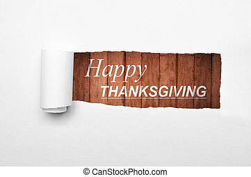 Happy thanksgiving with wooden background