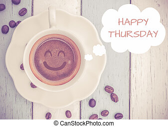 Happy Thursday with coffee cup