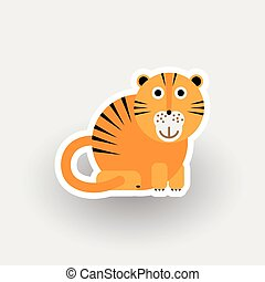 Happy Tiger cartoon character