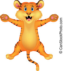 Happy tiger cartoon