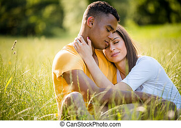 Happy together - mixed ethnic couple