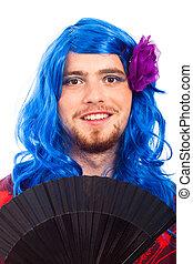 Happy transvestite