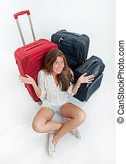 Happy traveling Girl