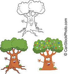 Happy Tree Waving A Greeting