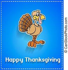 Happy Turkey Bird Greeting Template