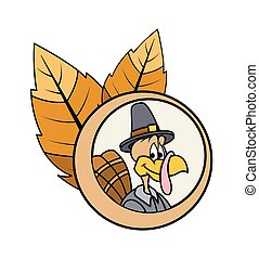 Happy Turkey Bird Vector Character