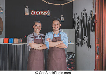 happy two cafe owner