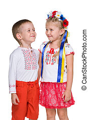 Happy Ukrainian children