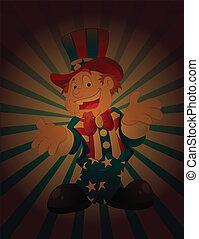 Happy Uncle Sam Vintage Background