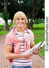 happy uni student
