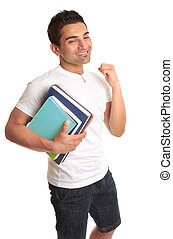 Happy University Student Acceptance