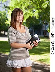 Happy University Student Outdoors