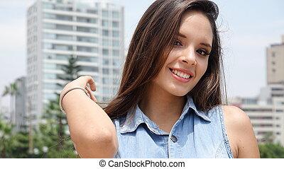 Happy Urban Teen Girl