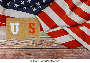 Happy US. federal holiday of Labor Day Memorial Day of the American flag