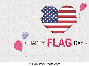 Happy USA Flag day. American Heart