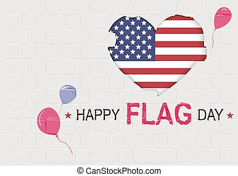 Happy USA Flag day. American Heart