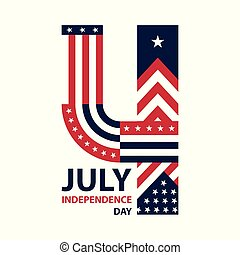 Happy USA Independence Day 4 th July. Greeting card and poster Design
