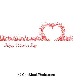 Happy valentine day background with hearts. Vector illustration