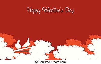 happy valentine day card landscape