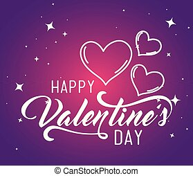 happy valentine day event with hearts decoration