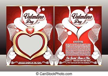 happy valentine day flyer template