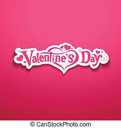 Happy Valentine Day message design