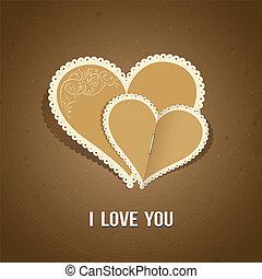 Happy Valentine day paper classic design, vector illustration