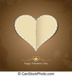 Happy Valentine day paper classic, vector illustration