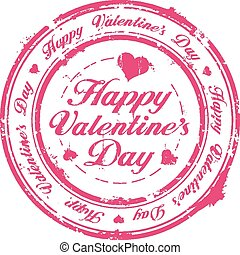 Happy Valentine Day stamp