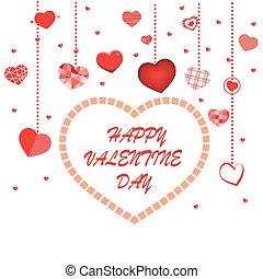 Happy valentine day. Vector illustration of valentine day