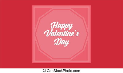 Happy Valentine day with animation greeting shape. Valentine