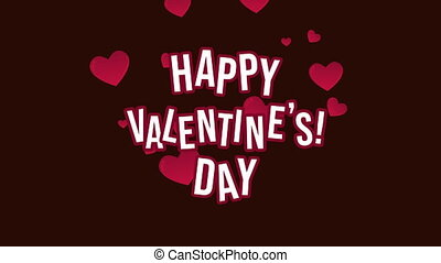 Happy valentine day with animation love collection