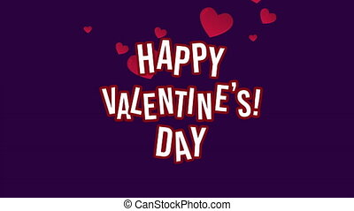 Happy valentine day with animation love