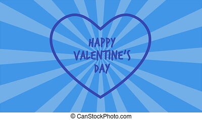 Happy Valentine day with animation twirl background...