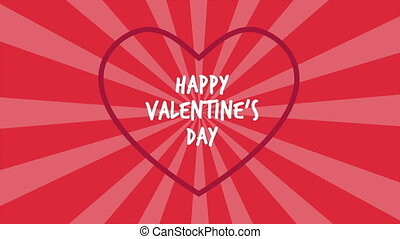 Happy Valentine day with animation twirl background