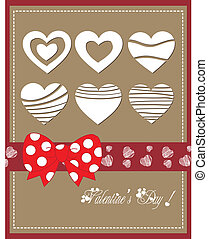 Happy valentine day with bow heart