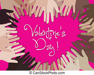 Happy valentine day with hand creat