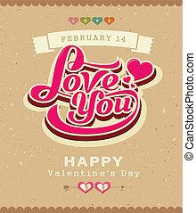 Valentine message classic banner - Happy Valentine message...