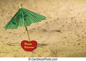 Happy Valentine on the beach